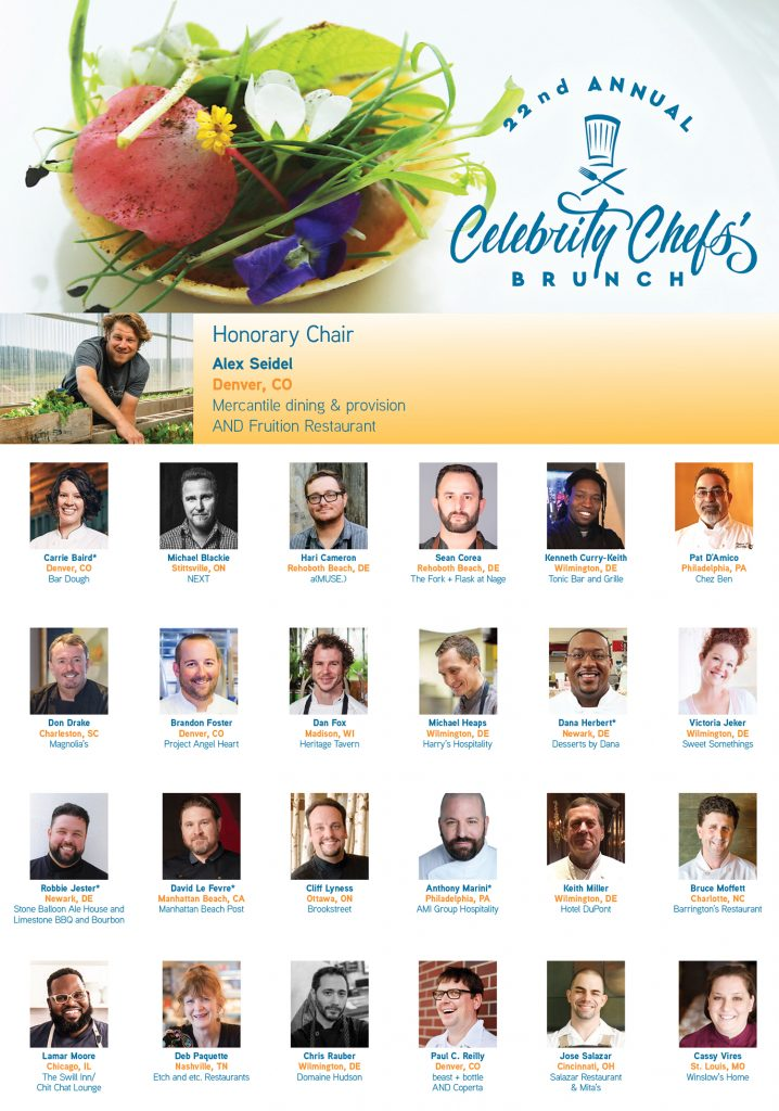 22nd annual celebrity chef brunch presenting chefs