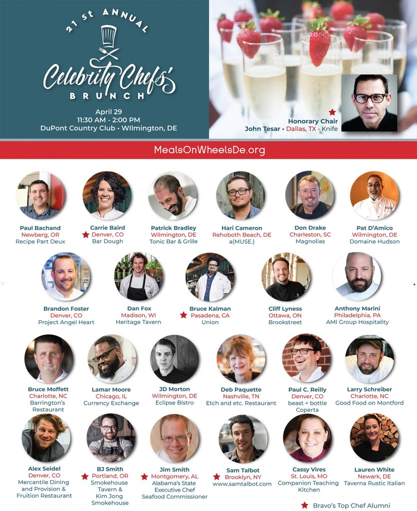 21st annual celebrity chefs brunch presenting chefs